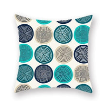 Load image into Gallery viewer, teal, mustard, blue and black circles designs- FunkChez