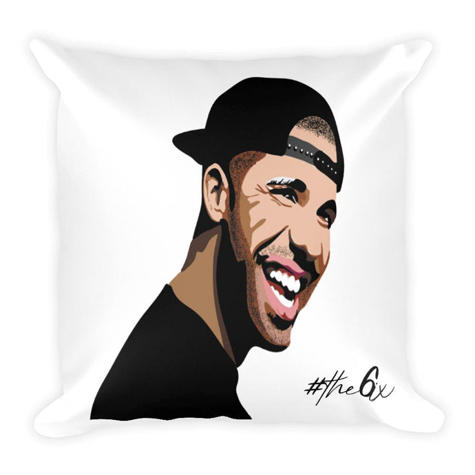 Drake - The 6ix throw pillow with Drake's face printed