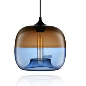 WALLE CEILING LAMP in blue and brown colour - FunkChez
