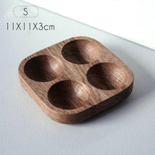 Load image into Gallery viewer, wooden egg storage box for 4 eggs by FunkChez