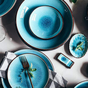 Unique Designer Blue Dinner Set