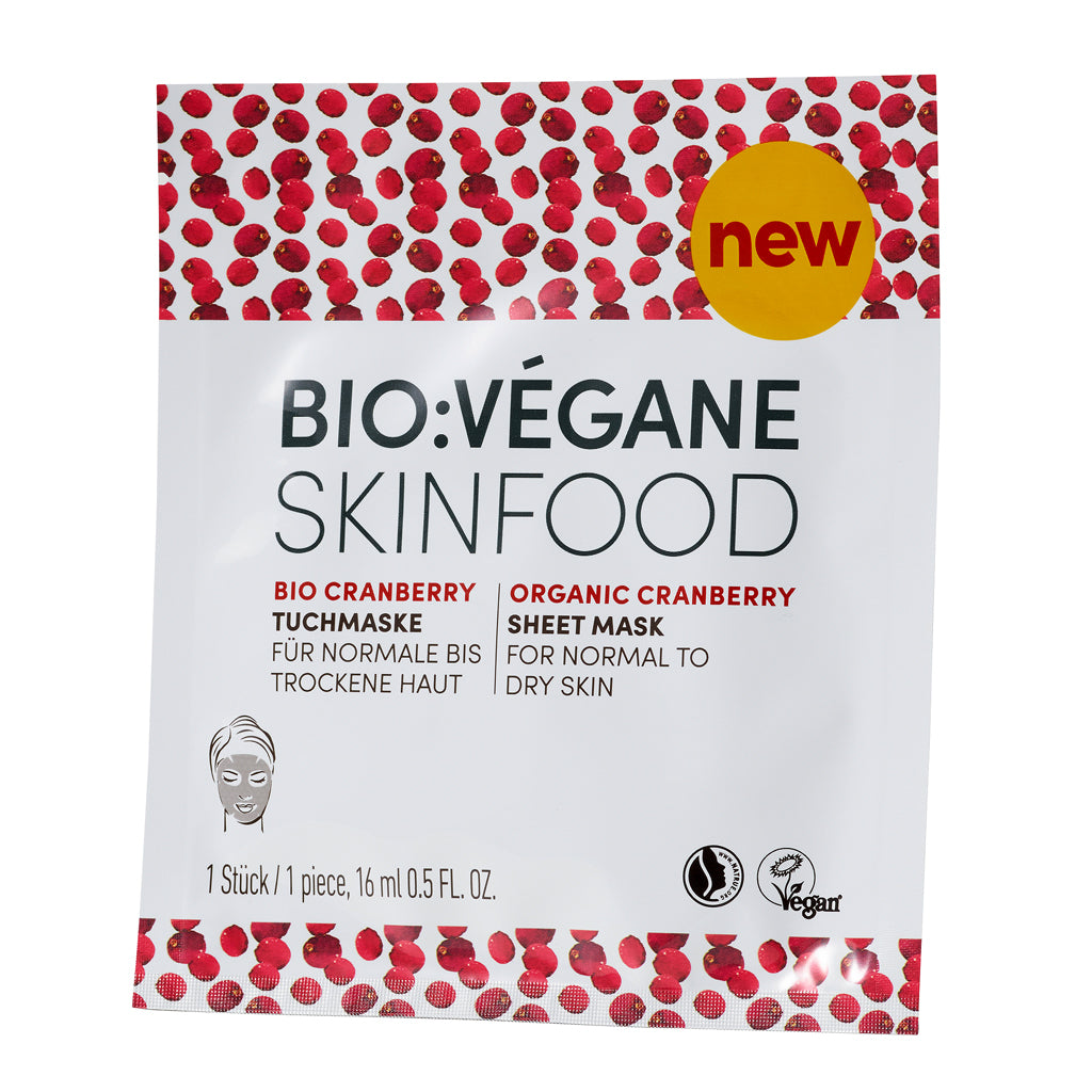 Organic Cranberry Sheet Mask (Normal/Dry) Skin