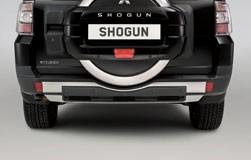 Mitsubishi Shogun Rear Bumper Skid Plate, Single Tone