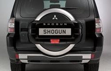 Mitsubishi Shogun Spare Wheel Cover, Double Shell - Sterling Silver