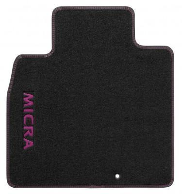 Nissan Micra (K13K) Velour Mats, Black Purple RHD 2013-2016