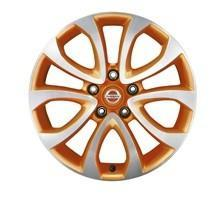 "Nissan Juke (F15E) Orange Alloy Wheel, Diamond-Cut 17"" inc. Centre Cap"