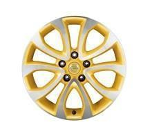 "Nissan Juke (F15E) Yellow Alloy Wheel, Diamond Cut 17"" inc. Centre Cap"