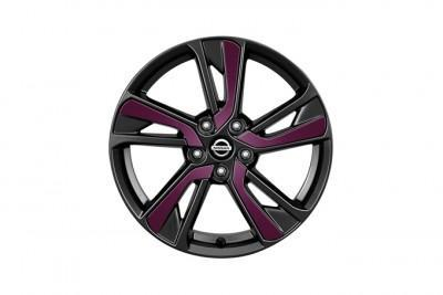 Nissan Juke Purple Laminate Alloy Wheel Inserts up to chassis #147869