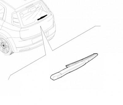 Abarth Punto Wiper Arm, Rear