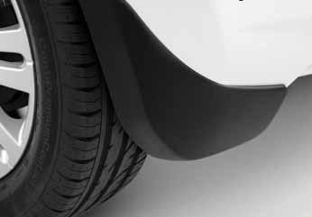 Suzuki Splash Moulded, Rigid Rear Mudflap Set 06/2012-