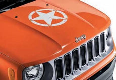 Jeep Renegade US Army Star Bonnet Decal in White