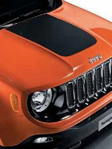 Jeep Renegade Bonnet Decal in Black