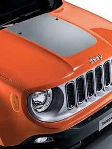 Jeep Renegade Bonnet Decal in Silver