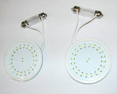 Fiat LED Interior Roof Lamps, Front