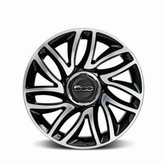 "Fiat 500L Alloy Wheel - 17"" Double Spoke, Black x1"
