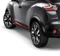 Nissan Juke (F15E) Side Door Sill Strips, Red 2010-2018
