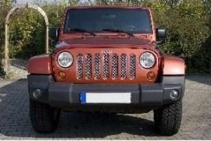 Jeep Wrangler (JK) Steel Mesh Grille - vehicles without Hood Lock