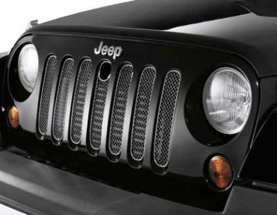 Jeep Wrangler (JK) Steel Mesh Grille - vehicles with Hood Lock