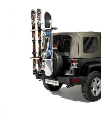 Jeep Wrangler (JK) Spare Tyre Mounted Ski & Snowboard Carrier