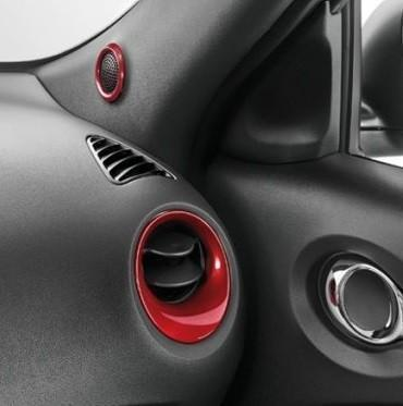 Nissan Juke (F15E) Red Air Vent & Tweeter Surrounds 2010-2018