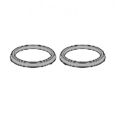 Abarth 124 Spider Cup Holder Finisher Rings, Bright Silver