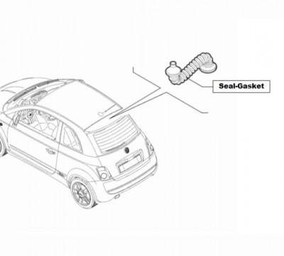 Abarth 500 Sealing Gasket, Tailgate Harness