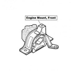Abarth Nuova 500 (3R) Engine Mount, Front