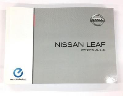 Nissan LEAF (ZE1E) Owners Manual, English 2018