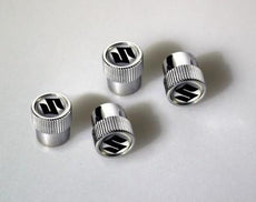 Suzuki Valve Cap Set with 'S' logo
