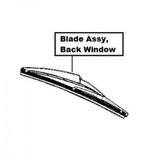 Dacia Blade Assy, Back Window Wiper