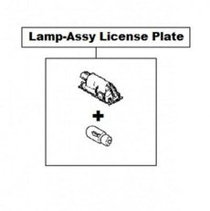 Renault Lamp-Assembly License Plate (non-LED)