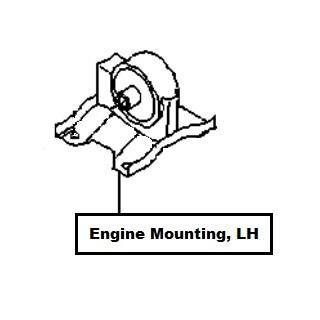 Nissan Primera (P11E) Engine Mounting, LH