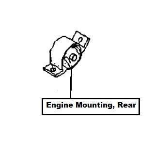 Nissan Primera (P11E) Engine Mounting, Rear