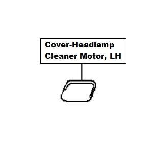 Nissan Qashqai/+2 Cover-Headlamp Cleaner Motor, LH