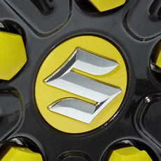 Suzuki Swift Sport Wheel Centre Cap Set, Champion Yellow