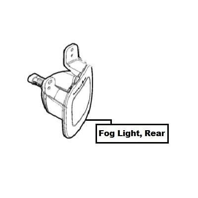 Jeep Renegade Fog Light, Rear RHD