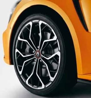 Renault Megane RS (4) Alloy Wheel, Black Diamond-Cut Interlagos 19""