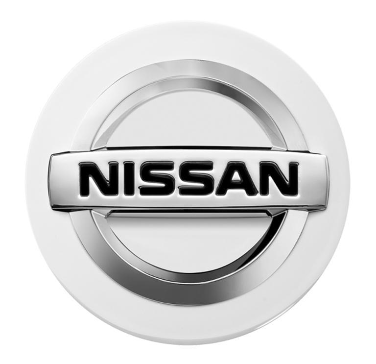 Nissan Glossy White Centre Cap, Alloy Wheel