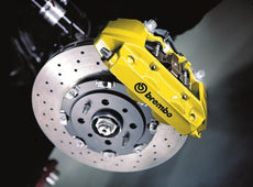 Abarth 500/595 Brake System by Brembo, YELLOW