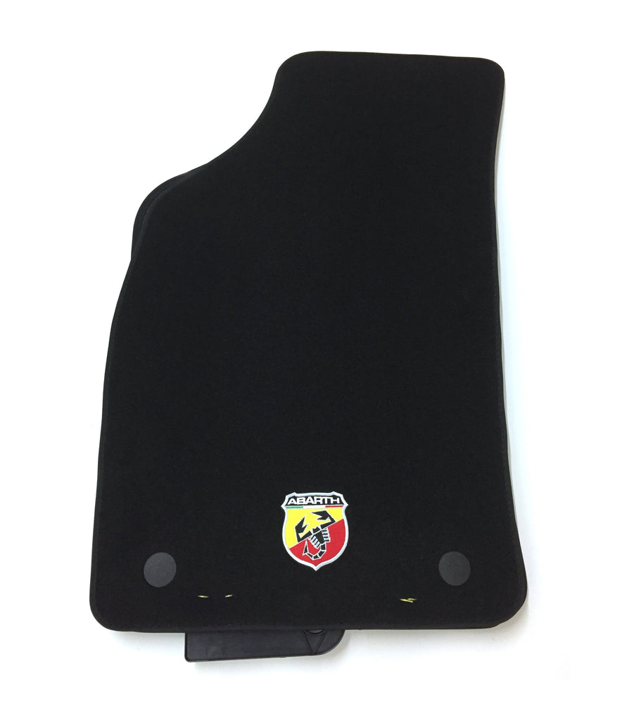 Abarth 595 Floor Mats, Textile Black RHD MT