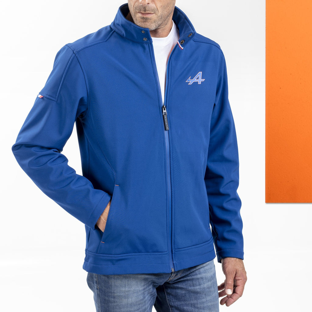 Alpine Dark Blue Men's Softshell, Large