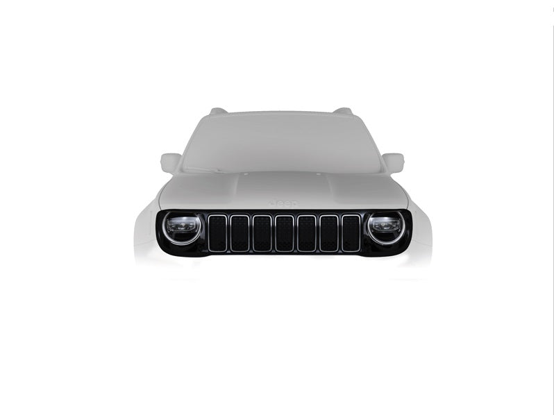 Jeep Renegade (RE) Piano Black Grille & Chrome Rings