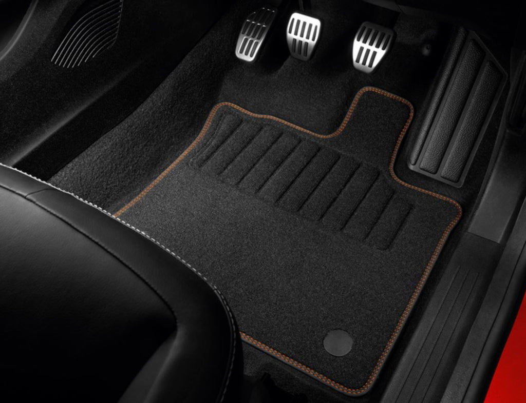 Renault Captur Floor Mats, Textile - Orange RHD