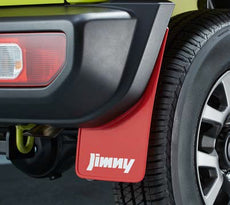 Suzuki Jimny Mudflap Set, Rear - Flexible Red