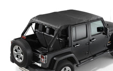 Jeep Wrangler (JK) Black Premium Hard Top Sun Bonnet Cover 4-Door Version