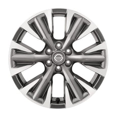 "Nissan NP300 Navara (D23M) 18"" Alloy Wheel D/Cut + Centre Cap, Dark Grey"