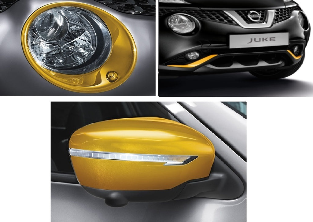 Nissan Juke (F15E) Exclusive Exterior Pack, cars with HL washers - Yellow