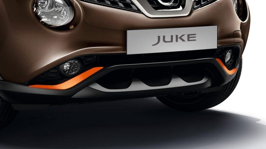 Nissan Juke Perso Orange Front & Rear Lower Bumper Finishers