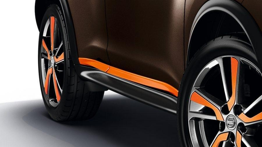 Nissan Juke Perso Orange Side Door Sill Strips