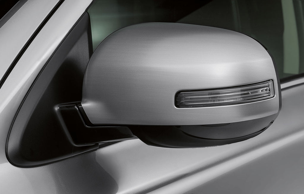 Mitsubishi Mirror Covers, Brushed Alloy - vehicles with side indicators